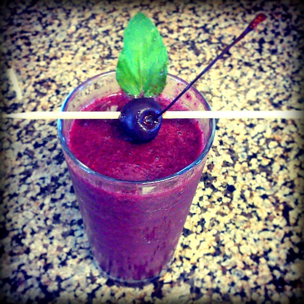 Black berry smoothie